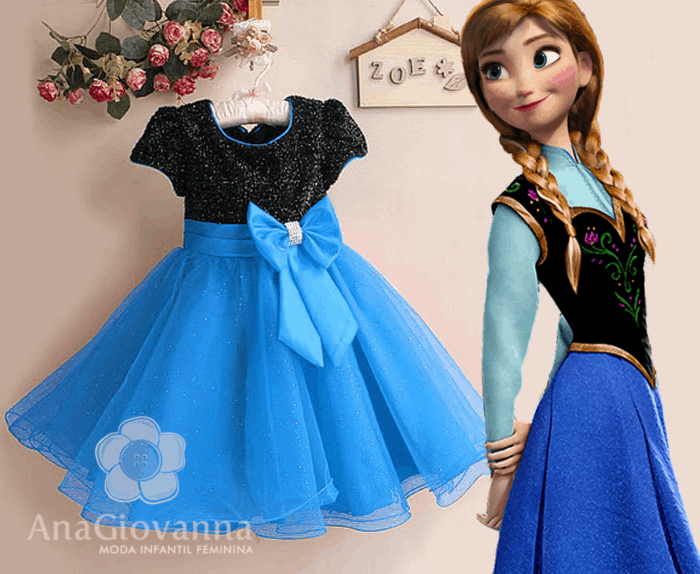 Vestido Infantil Anna Frozen Blog Ana Giovanna