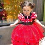 Vestido de aniversário vermelho para bebê