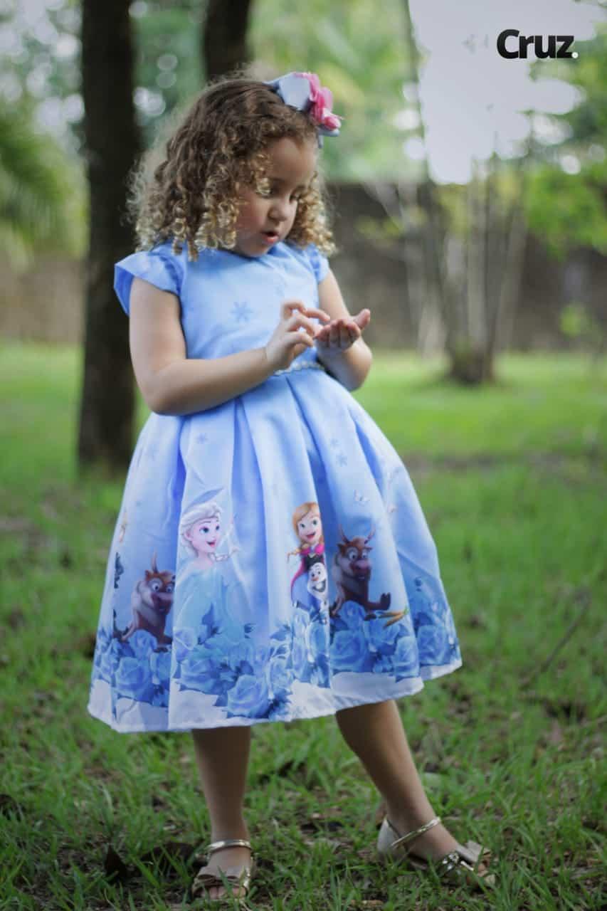 vestido frozen para aniversário