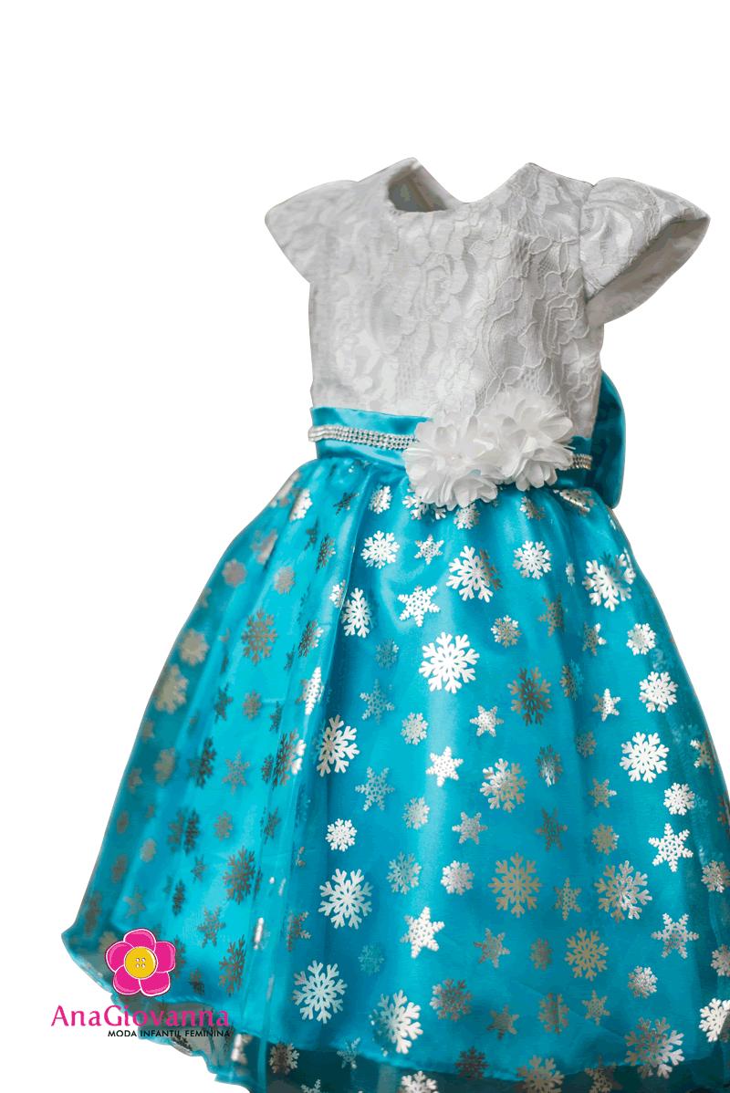 vestido frozen da Elsa