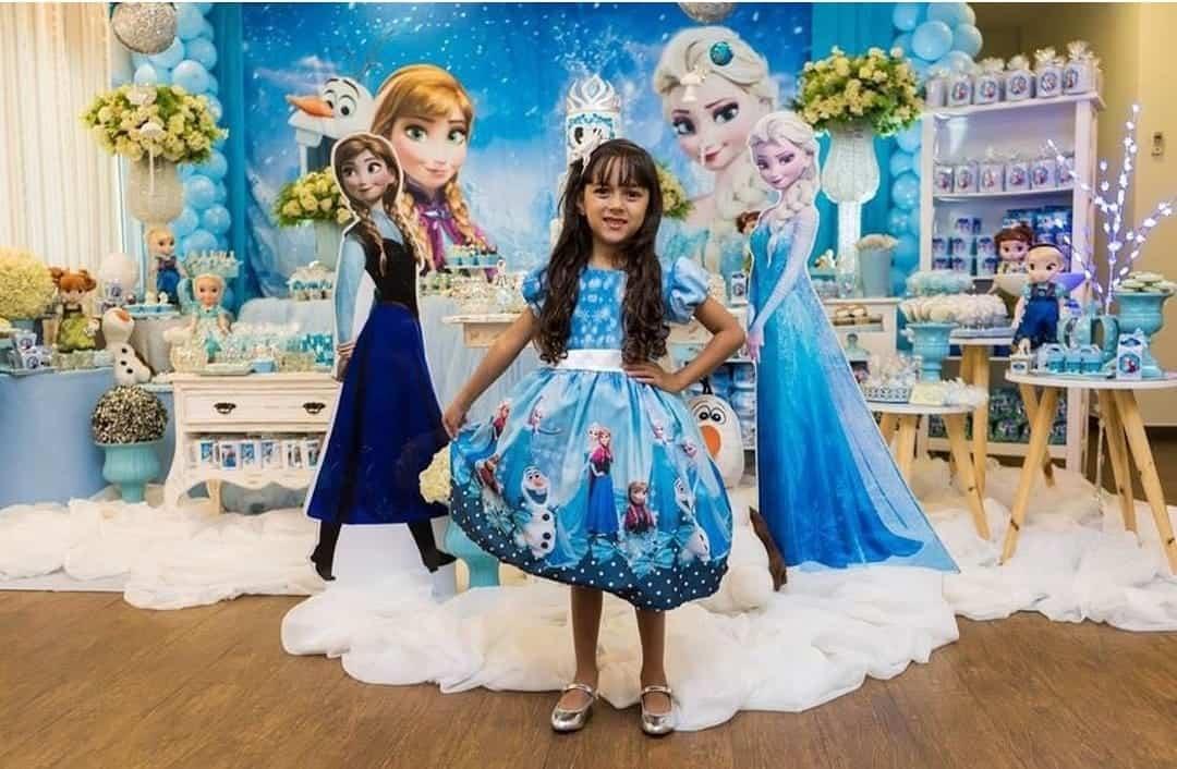 vestido Frozen de festa