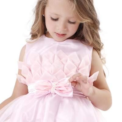 Vestido de festa rosa princesa