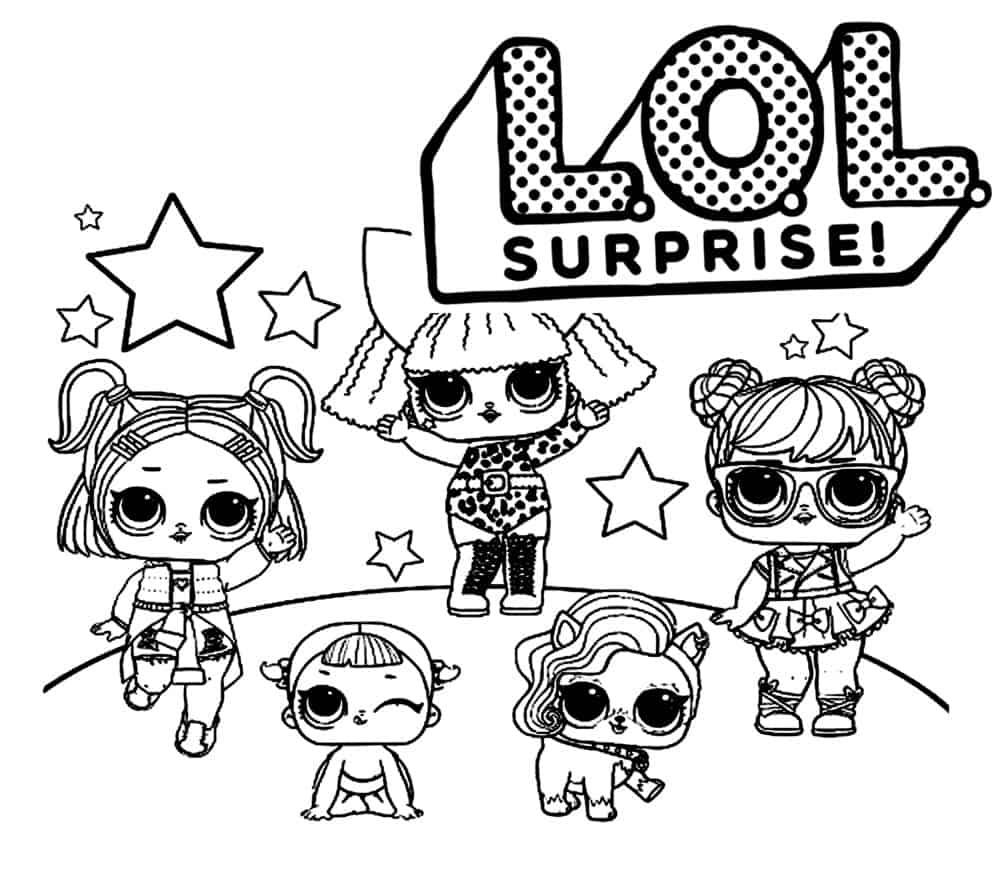 Desenhos da boneca LOL para imprimir e colorir