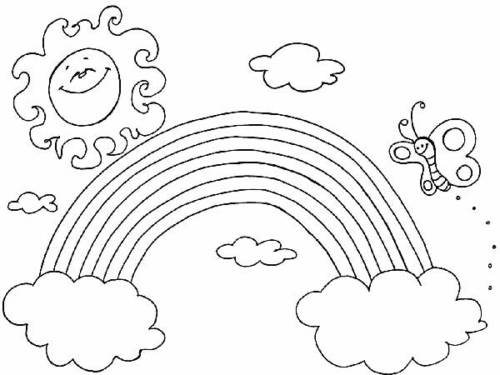 Desenhos para colorir de arco-íris