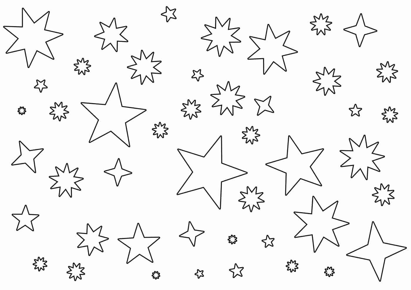 Molde estrela para imprimir