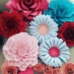 Decoração com flores de papel – Moldes fáceis