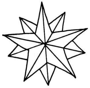 Desenhos de estrela de Natal para pintar