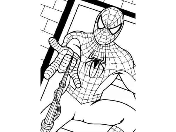 Desenhos de Homem Aranha para colorir