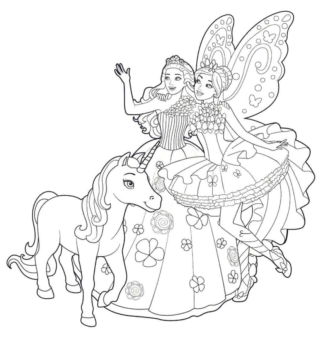 Desenhos de Unicórnio para pintar e colorir