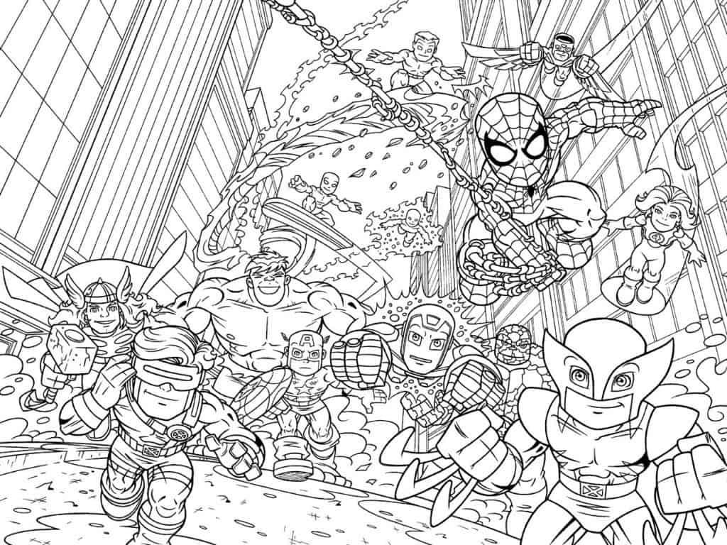 Desenhos para colorir de super heróis