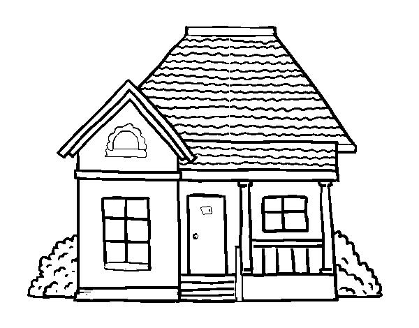 Desenhos de casa para colorir