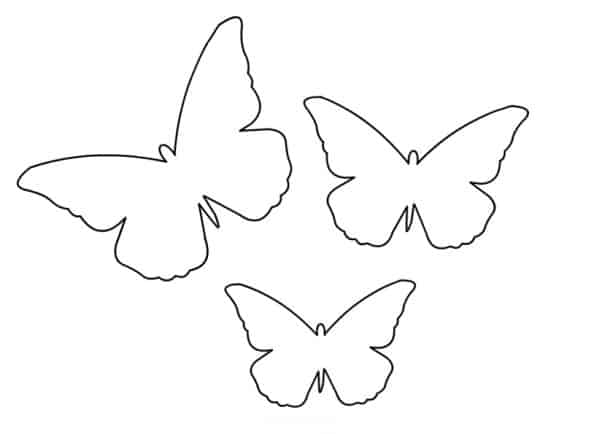 Moldes de borboletas de papel para decoração