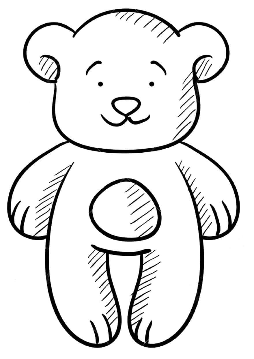 Moldes lindos de urso para imprimir