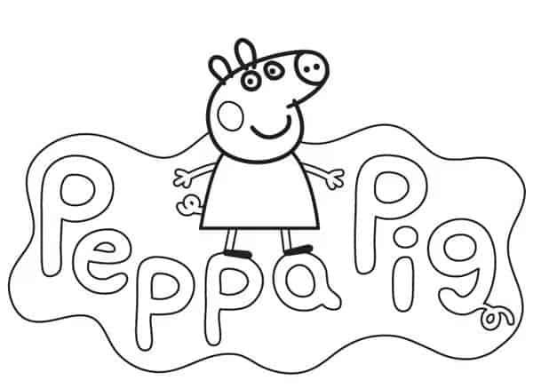 Desenhos da Peppa para colorir