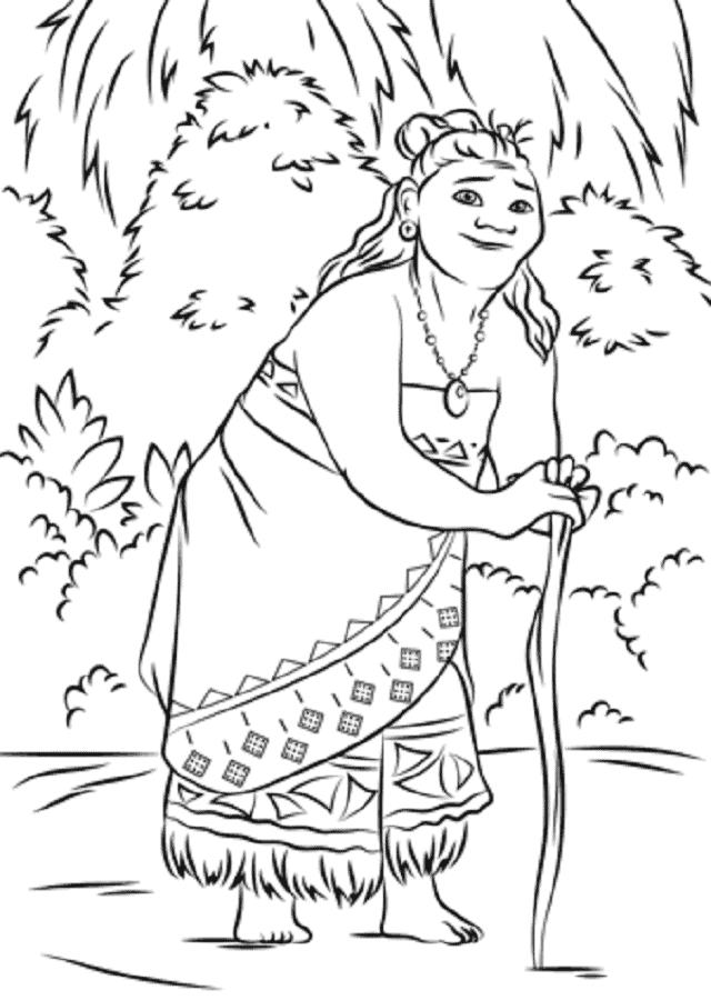 Desenhos da Moana para imprimir e colorir