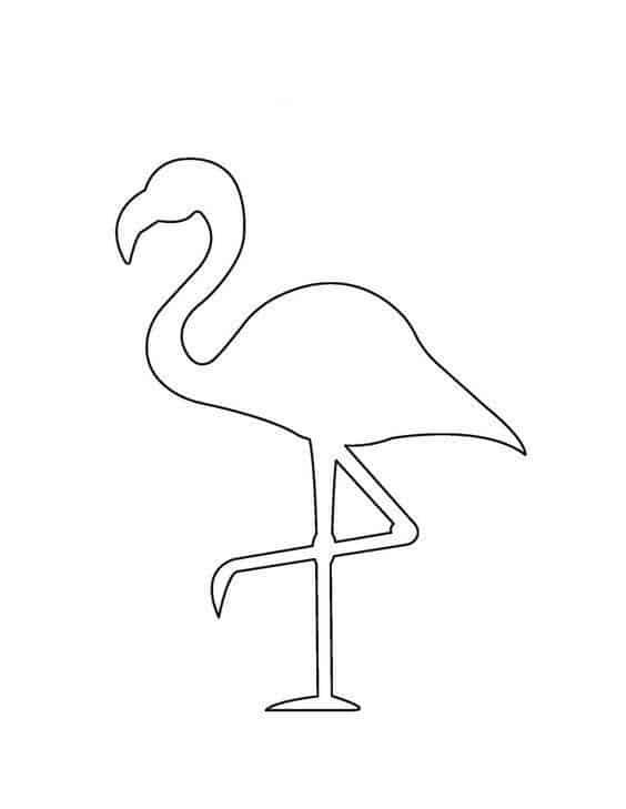 Moldes de Flamingo para Festa Tropical