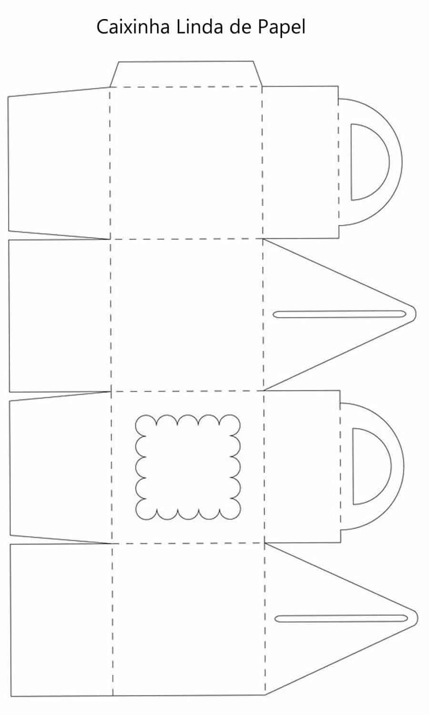 Moldes fáceis para caixinhas de papel