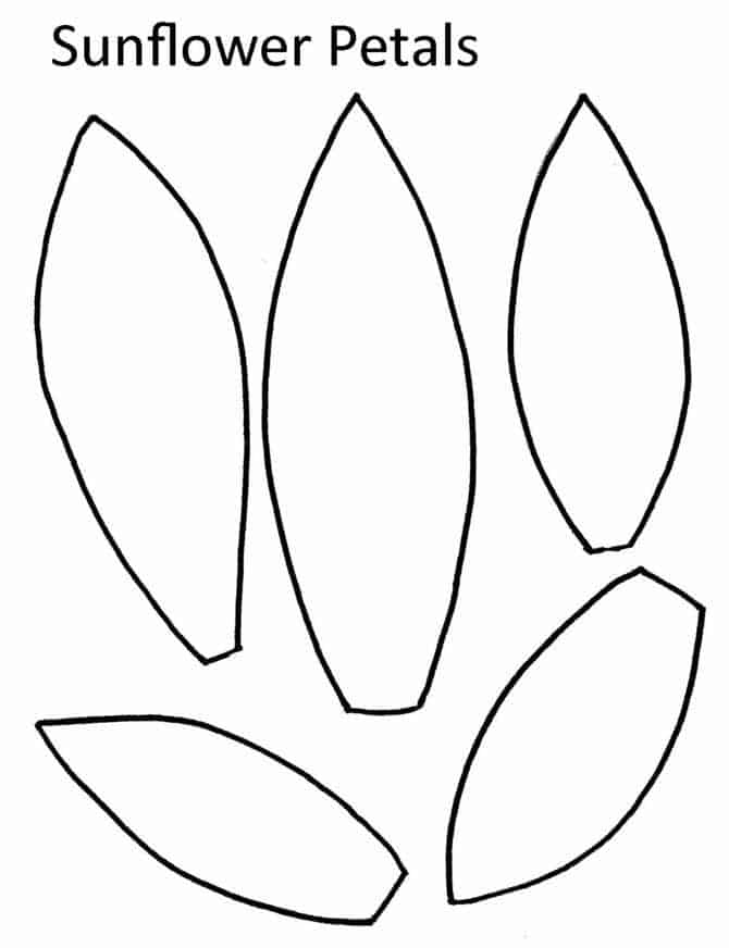 Moldes para fazer girassol de papel