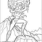 Mulher Maravilha para colorir