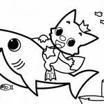 Baby Shark para colorir