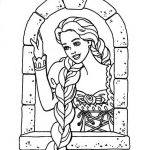 Rapunzel para colorir