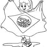 Bandeira do Brasil para colorir