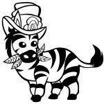 Zebra para colorir