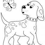 Cãozinho fofo para pintar