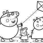 Família Peppa para colorir
