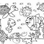 No fundo do mar para colorir