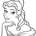 Princesa Bela para colorir