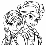 Princesas Ana e Elsa