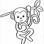 Macaco para imprimir e colorir