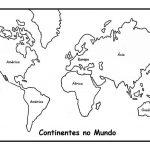 Mapa Mundi para colorir