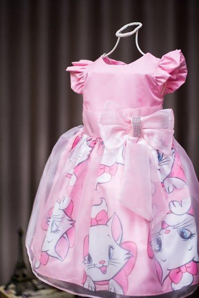 Vestido para Festa Infantil Gatinha Marie