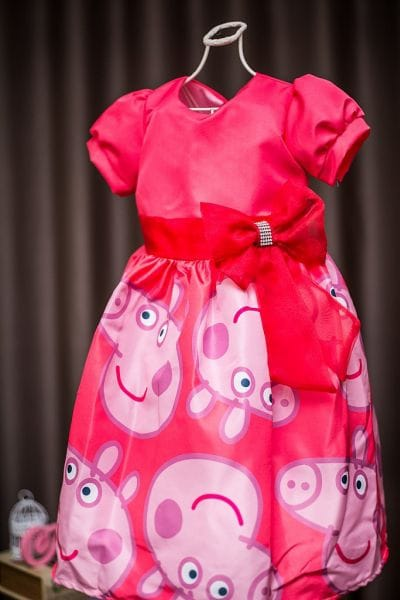 Vestido para Festa Infantil Peppa Pig