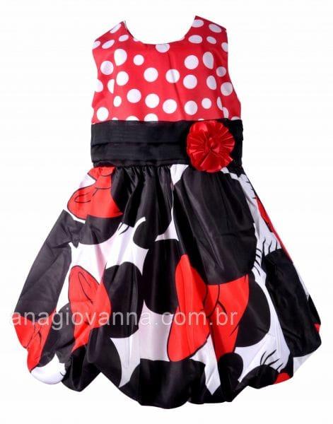 Vestido de Aniversário da Minnie