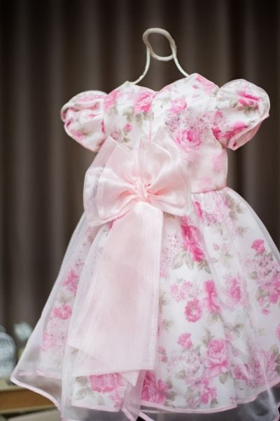 Vestido de Princesa infantil Floral com Organza