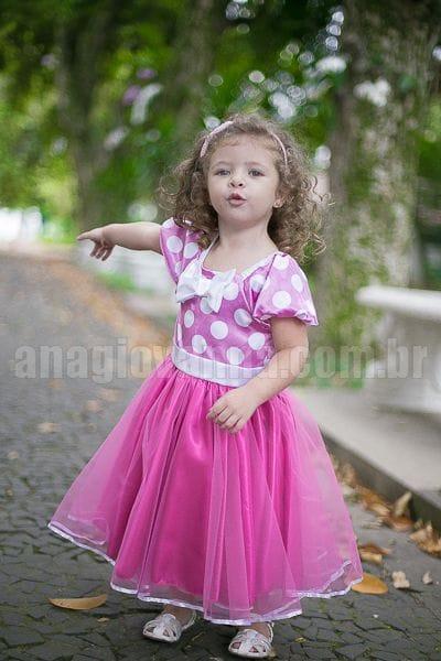 Vestido de Festa da Minnie Rosa