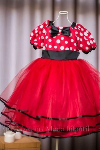 Vestido da Minnie Vermelha para festa infantil