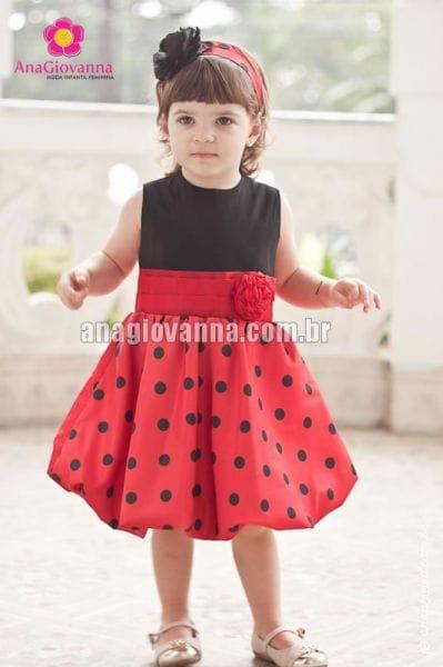 Vestido Infantil da Joaninha Baby