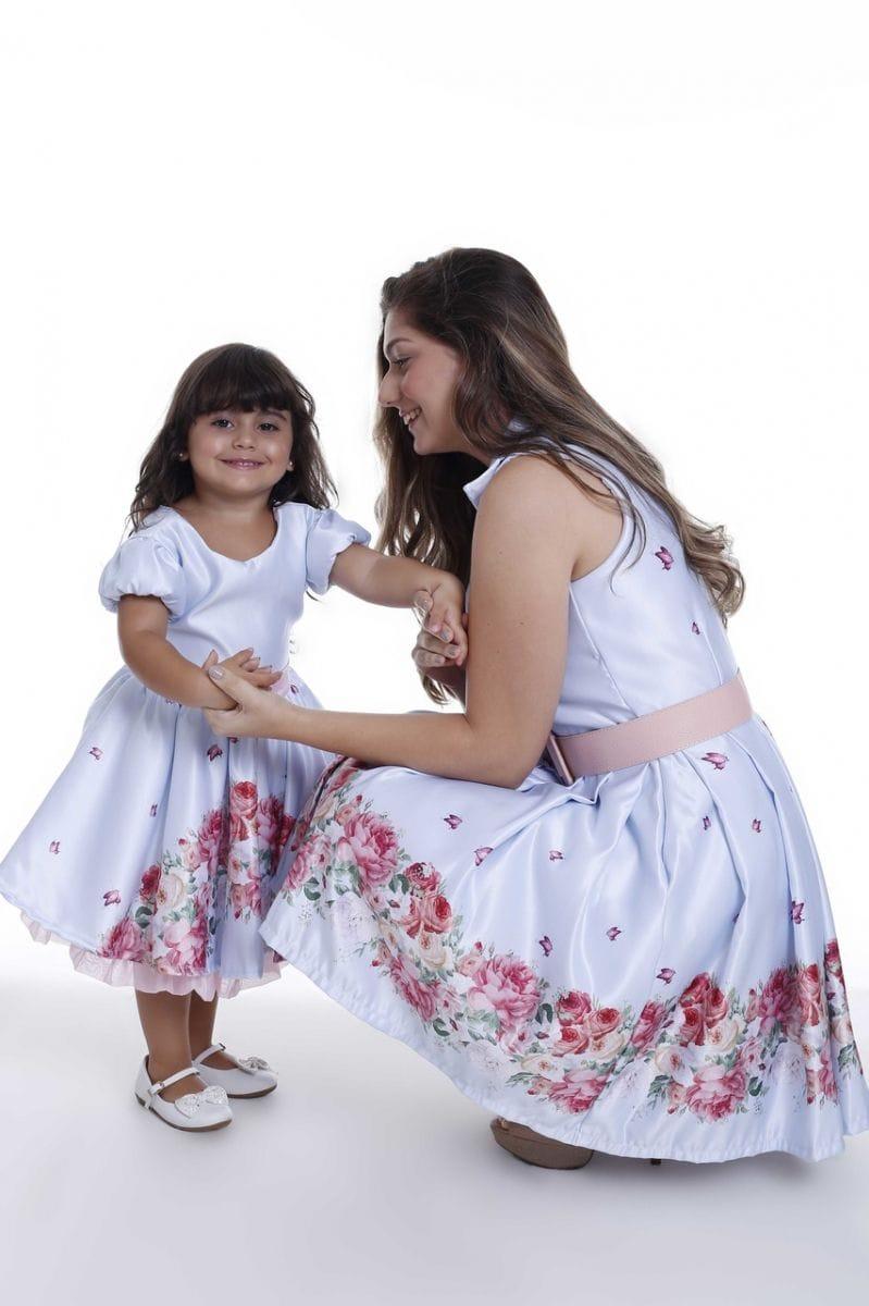 Vestidos de Festa Jardim Encantado Mãe e Filha