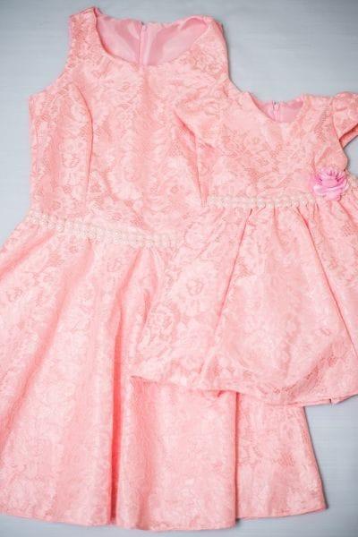 Vestidos Mãe e Filha Rosa para Festa Infantil