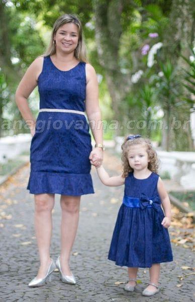 Vestidos Tal Mãe Tal Filha Azul