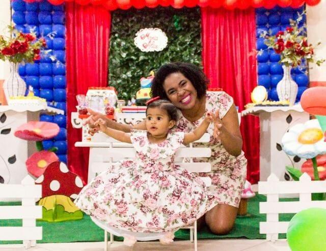 Vestidos Mãe e Filha Floral Rosa para Festa