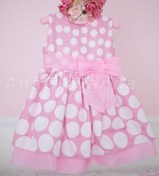 Vestido Infantil da Minnie Rosa para Aniversário