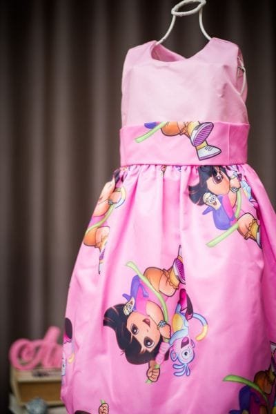 Vestido Dora Aventureira infantil para festa