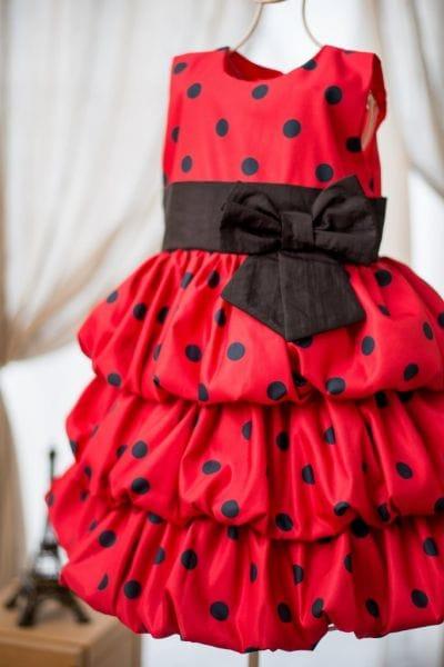 Vestido de Festa da Minnie Vermelha Balonê