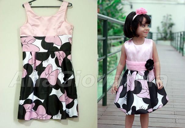 Vestidos Mãe e Filha Minnie Mouse Rosa