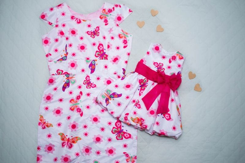 Vestidos Mãe e Filha Borboletas